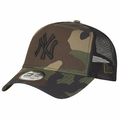 497a3c82f6c New Era Adjustable Trucker Cap - New York Yankees wood camo - One Size