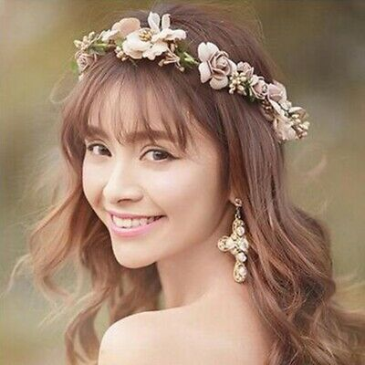 Women Boho Flower Floral Hairband Headband Crown Party Bride Wedding Beach