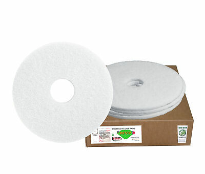"Sanico MVP Base Hit 20"" White Polishing Floor Pad Super Polish  , 5/cs"