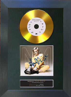 GOLD DISC ANNE-MARIE Speak Your Mind Signed Autograph Mounted Print A4 176