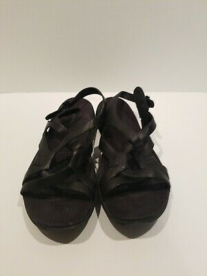 7f803ebbabf6 MERRELL AGAVE LEATHER Strappy Sandals Black Women s Size 8 -  24.99 ...
