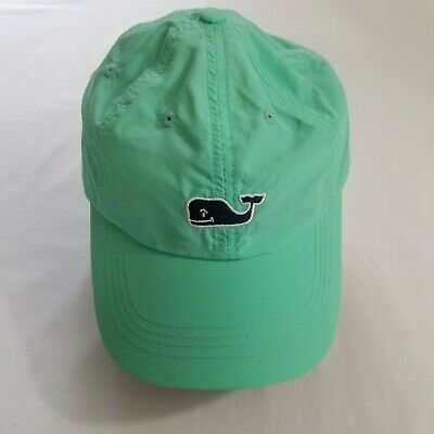 c09a93f52bf1e VINEYARD VINES Green Strap Adjustable Embroidered Adult Hat Cap Whale Logo