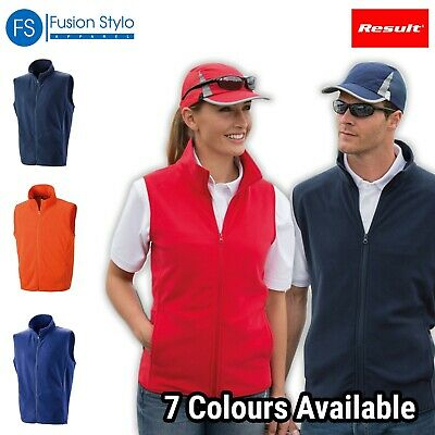 Result Core Microfleece Gilet Lightweight Bodywarmer Unisex Sleevless Fleece