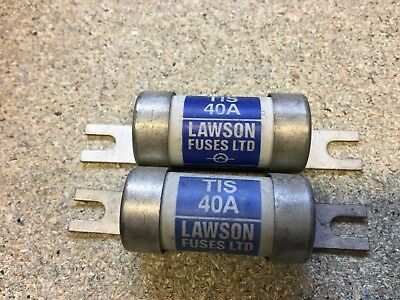 TIS 40  Off Set Bolted Tag BS88 Fuse  40 Amp Lawson   X2
