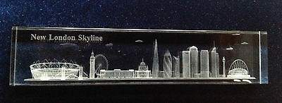 18cm Crystal Paperweight - London Skyline - Ideal Gift