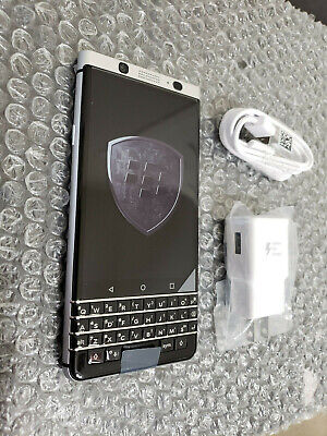 New BlackBerry KeyOne 32GB Silver GSM Unlocked Clean ESN Smartphone + More