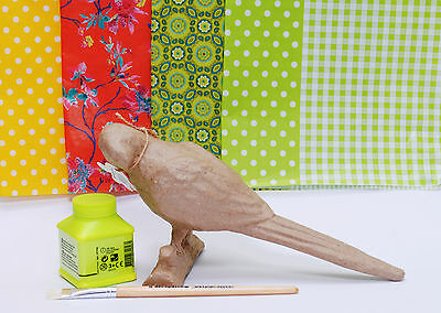 Decopatch Polly the Parrot Kit, Bird Decoupage Craft Activity