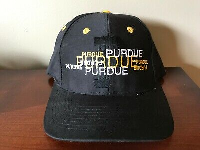 6fce91fac3f78 VTG Purdue Boilermakers Basketball Snapback Hat Top of the World NWOT  Spellout