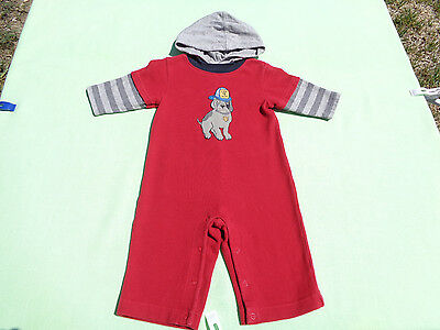 2f43e43fe3e gymboree baby boys hooded one piece romper size 3-6 months firehouse hounds  line