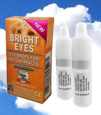 Cataract Bright Eyes Eye Drops for Dogs and Pets Genuine Ethos 1 Box 10ml