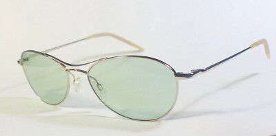 bd982b3097 New Oliver Peoples Aero (57) Aviators in Light Gold W Green Glass Lenses