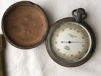 Cary Of London Antique Pocket Compensated Barometer No 1069