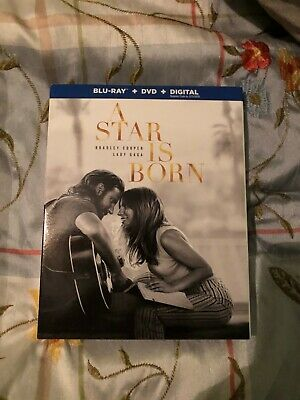 A Star Is Born Blu Ray, DVD, Digital code w/ SLIP COVER brand new Factory sealed