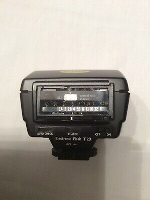 Olympus T20 Electronic Flash  With Instructions