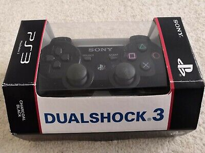PS3 Sony PlayStation Dualshock 3 Wireless Controller Charcoal Black Boxed