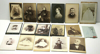 "15pc 4x6"" Antique Early Portrait Photos Photographs Syracuse NY PA Mich Iowa++++"