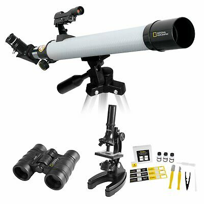 NATIONAL GEOGRAPHIC DELUXE ADVENTURE SET Including Telescope, Microscope and Bin