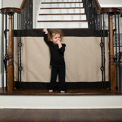 Baby and Pet Gate–to-Banister-Retractable Safety Gate Wide and Regular Sizes