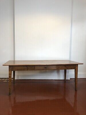 Antique cherry wood dining table / 19th Century Farmhouse Table
