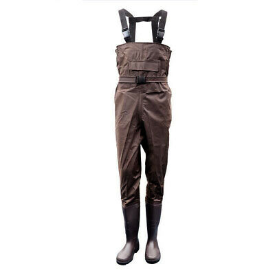 Chest Waders Waterproof Fishing Hunting PVC Nylon Rubber Boot Foot Wading Pant