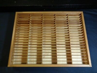 Napa Valley Box Company 100 Cassette Tape Wood Storage Holder Wall Rack