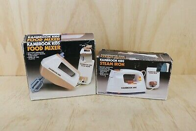 Vintage Kambrook Kids Toy Food Mixer + Steam Iron Battery Operated