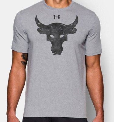 a893480c UNDER ARMOUR THE Rock Project Rock Brahma Bull Men's Loose Fit T-Shirt UA  M,L,XL