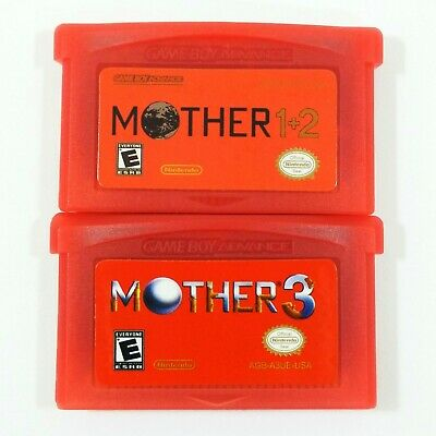 Mother 3 (Earthbound 2) and Mother 1+2 ENGLISH GBA Gameboy Advance Cartridges