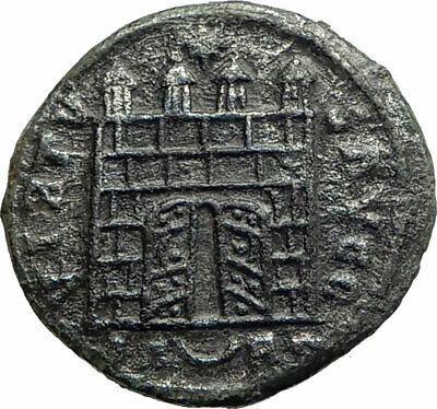 CONSTANTINE I the GREAT 325AD OPEN DOOR Camp gate Rare Arles Roman Coin  i76277