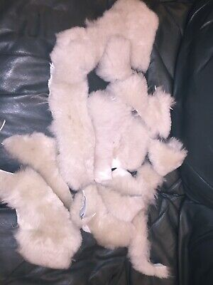 Genuine Sheepskin Pieces Offcuts Remnants,arts,craft,toys,collage,pets,off white