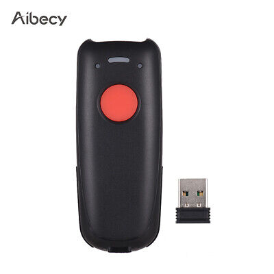3 in 1 Mini 2.4G Wireless Wired 1D CCD Barcode Scanner POS Scaning Reader T2S1