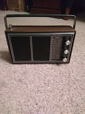 Vintage Sears and roebuck AM/FM /AFC Portable Radio Works good  great shape rare