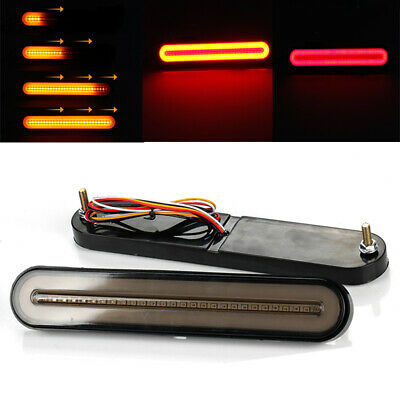 2x Truck Trailer Mount Stop Turn Signal Tail back up Light Flowing Reverse Lamp