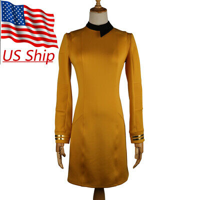 Star Trek Discovery Season 2 Starfleet Commander Female Gold Dresses Badge Set