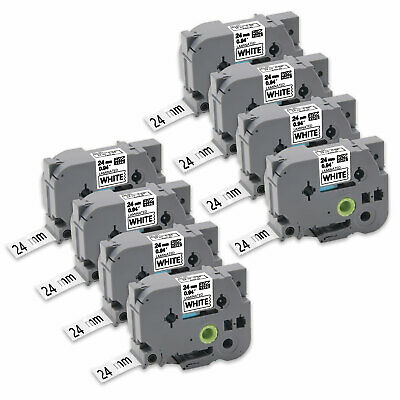 """8PK TZe251 24mm 0.94""""Label Tape Compatible for Brother P-Touch PT-P900W PT-P950W"""