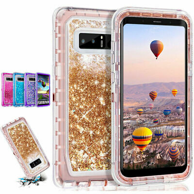 Shockproof Bling Liquid Glitter Case Cover For Samsung Galaxy S10 Plus/S10 E/S9+