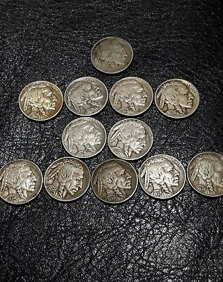 Buffalo Nickels 1934 35 36 37 38