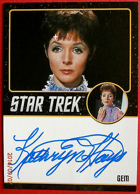 STAR TREK TOS 50th KATHRYN HAYS as Gem EXTREMELY LIMITED (<200) Autograph Card