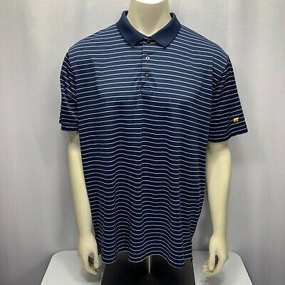 4e2ba3f7f Jack Nicklaus Golden Bear Stay Dri Performance Golf S S Blue Polo Shirt Mens  XL