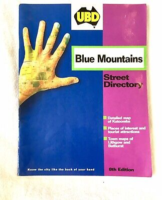 UBD BLUE MOUNTAINS (Only) STREET DIRECTORY, VGC, RRP $16.95!