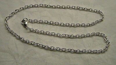 Chain, silver-plated steel, 5x3.5mm heavy cable, 45cm, lobster claw clasp x 2