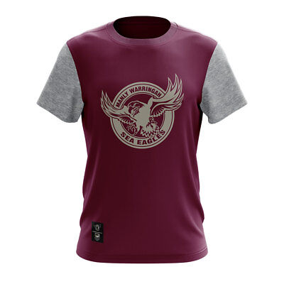 NRL Manly Sea Eagles Winter Supporter T-Shirt - Sizes M - 4XL