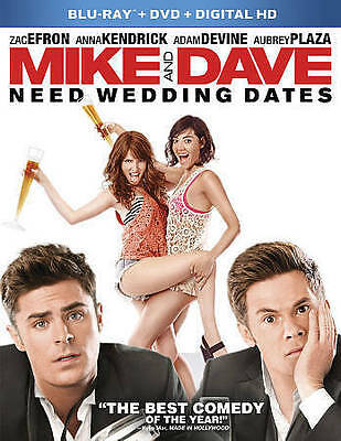 Mike and Dave Need Wedding Dates (Blu-ray/DVD, 2016) - NEW!!