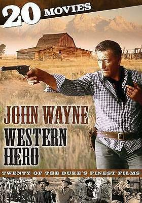 John Wayne: Western Hero - 20 Movies (DVD, 2013, 4-Disc Set) - NEW!!