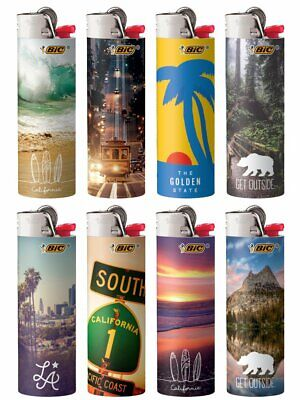 New BIC Special Edition California Series Lighters Set of 8 Lighters Limited
