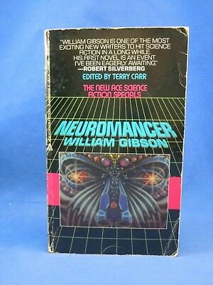 NEUROMANCER by William Gibson 1st PB Edition First Print, 1984, SIGNED by Author