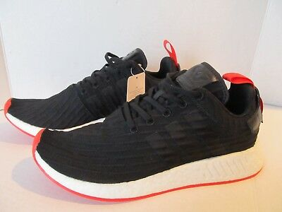 online store 6df88 6831a ADIDAS MEN'S NMD R2 Primeknit Sneakers, BA7252 Size 10.5, Black Red White