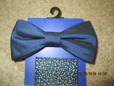 aba1eb2f4e19 Men's Apt. 9 Bow Tie and Pocket Square Dark Blue and mini floral New with