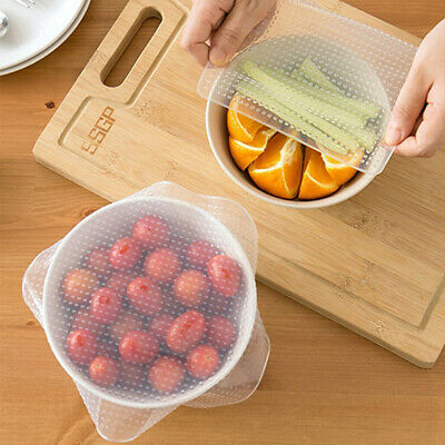 Kitchen Reusable Wonders Silicone Eco Stretch Lids 4 Pack Food Wrap Seal Covers