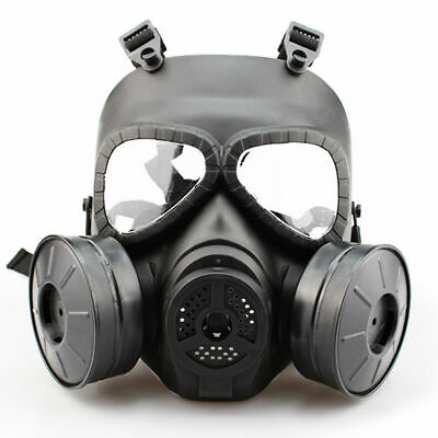 Double Filter Gas Mask Fan CS Edition Perspiration Dust Face Guard Breathable